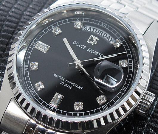 ドルチェセグレート DOLCE SEGRETO 腕時計 OP300BK グレー