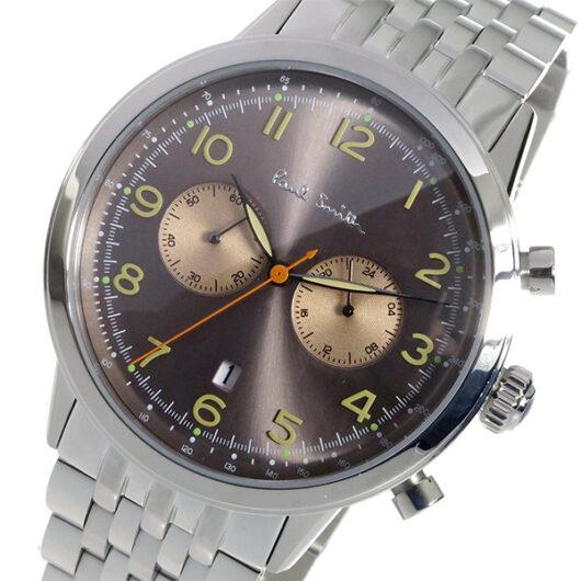 ポールスミス PAUL SMITH クロノ クオーツ メンズ 腕時計 P10019 ブラウン ブラウン