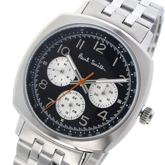 ポールスミス PAUL SMITH アトミック ATOMIC クオーツ メンズ 腕時計 P10043 ブラック ブラック