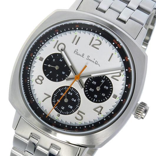 ポールスミス PAUL SMITH アトミック ATOMIC クオーツ メンズ 腕時計 P10044 ホワイトシルバー ホワイト
