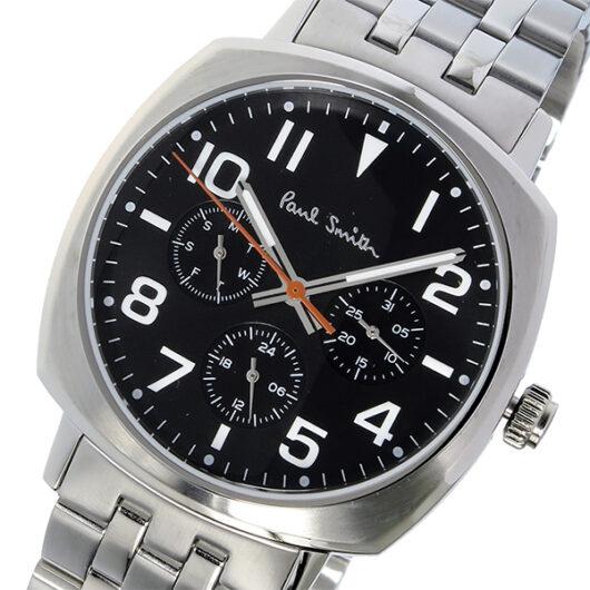 ポールスミス PAUL SMITH アトミック ATOMIC クオーツ メンズ 腕時計 P10046 ブラック ブラック