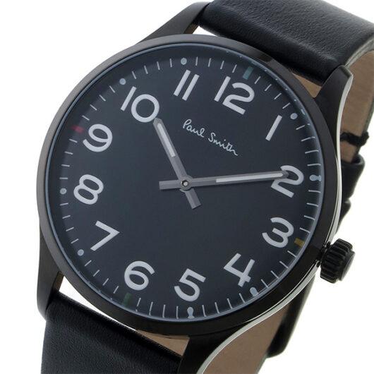 ポールスミス PAUL SMITH テンポ TEMPO クオーツ メンズ 腕時計 P10062 ブラック ブラック