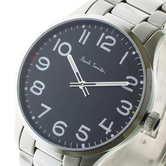 ポールスミス PAUL SMITH  クオーツ メンズ 腕時計 P10064 ブラック ブラック