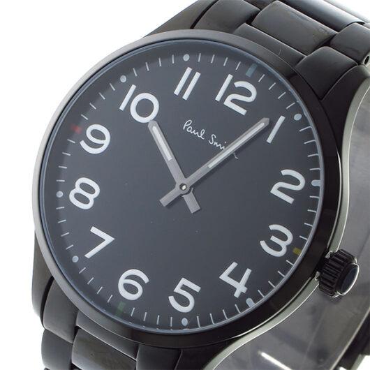 ポールスミス PAUL SMITH  クオーツ メンズ 腕時計 P10066 ブラック ブラック