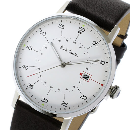ポールスミス PAUL SMITH ゲージ GAUGE クオーツ メンズ 腕時計 P10072 ホワイト ホワイト