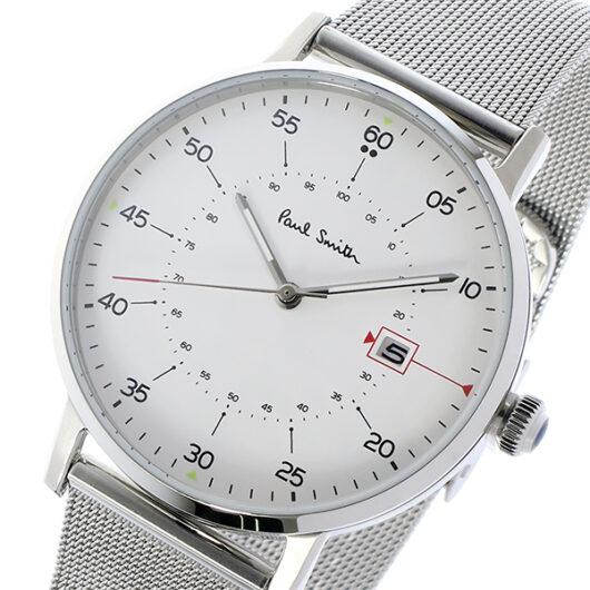 ポールスミス PAUL SMITH ゲージ GAUGE クオーツ メンズ 腕時計 P10075 ホワイト ホワイト