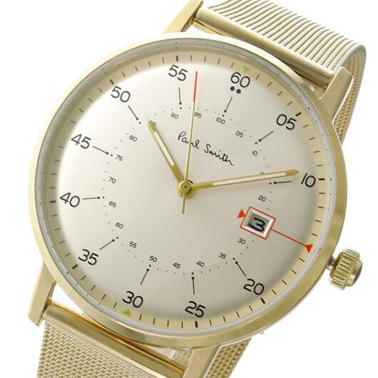 ポールスミス Paul Smith ゲージ GAUGE クオーツ メンズ 腕時計 P10130 ホワイトシルバー ホワイト