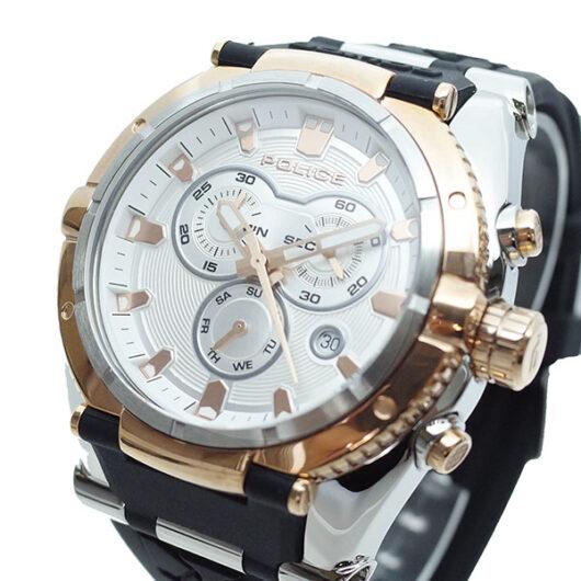 ポリス POLICE 腕時計 メンズ PL.13092JSTR/04 クォーツ ホワイト ブラック