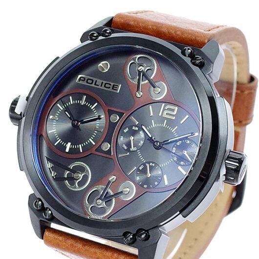 ポリス POLICE 腕時計 メンズ PL.14693JSB/02A クォーツ ブラック ブラウン