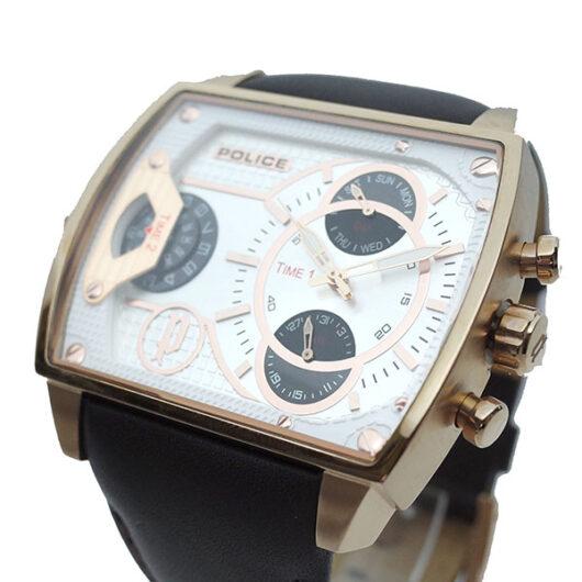 ポリス POLICE 腕時計 メンズ PL.14698JSR/04 スコーピオン SCORPION クォーツ ホワイト ブラウン