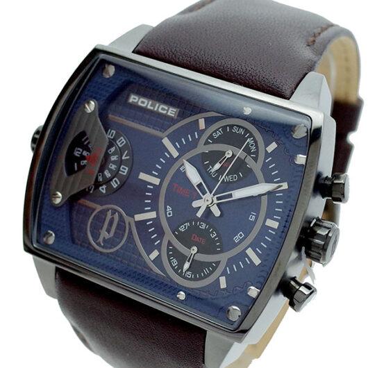 ポリス POLICE 腕時計 メンズ PL.14698JSU/03 スコーピオン SCORPION クォーツ ネイビー ブラウン