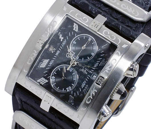 キース バリー KEITH VALLER クオーツ クロノ メンズ 腕時計 PSC-BK ブラック ブラック