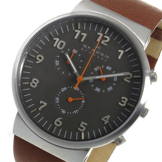 スカーゲン SKAGEN アンカー クロノ クオーツ メンズ 腕時計 SKW6099 グレー グレー