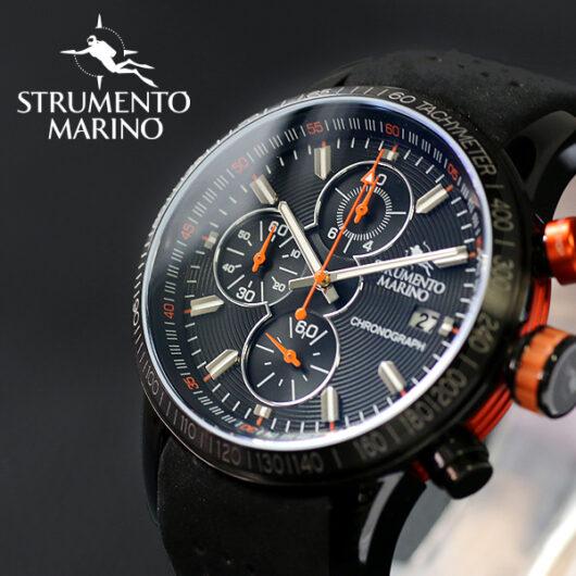 ストルメントマリーノ STRUMENTO MARINO アドミラル クロノ ダイバーズ メンズ 腕時計 SM110-L-BK-NR-NR ブラック ブラック