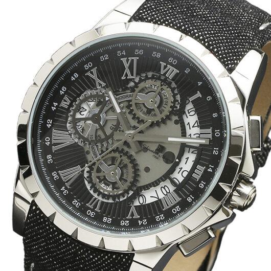 サルバトーレマーラ クロノ クオーツ メンズ 腕時計 SM13119D-SSBKBK ブラック ブラック