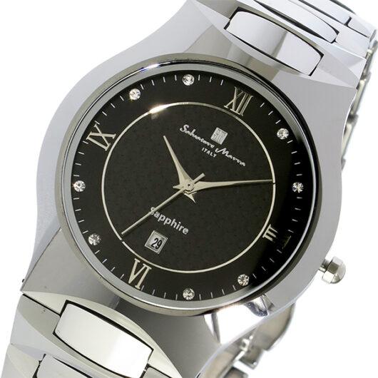 サルバトーレ マーラ SALVATORE MARRA クオーツ タングステン メンズ 腕時計 SM17103-SVBK ブラック ブラック