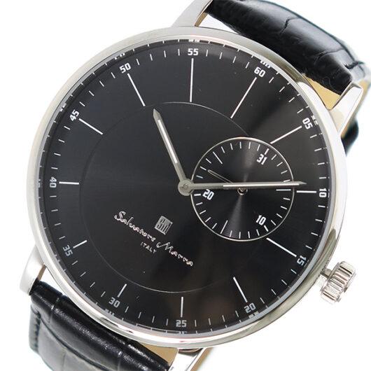 サルバトーレマーラ SALVATORE MARRA クオーツ メンズ 腕時計 SM17105-SSBK ブラック ブラック