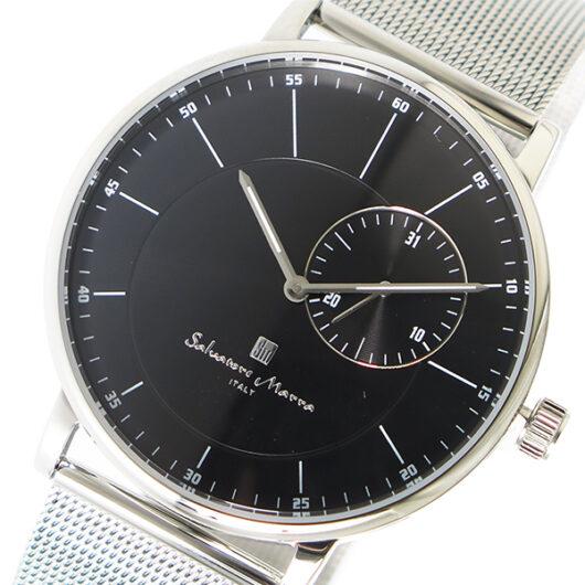 サルバトーレマーラ SALVATORE MARRA クオーツ メンズ 腕時計 SM17105M-SSBK ブラック ブラック