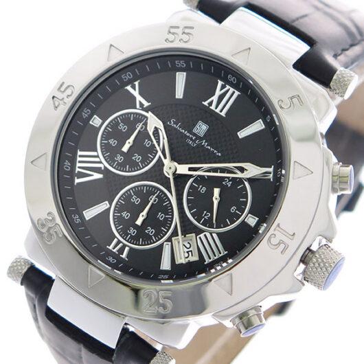 サルバトーレマーラ SALVATORE MARRA クオーツ クロノ 腕時計 SM8005S-SSBK ブラック ブルー