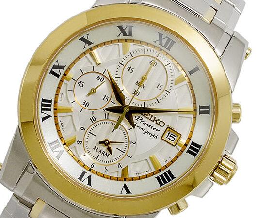 セイコー SEIKO Premier クロノグラフ メンズ 腕時計 SNAF32P1 ホワイト