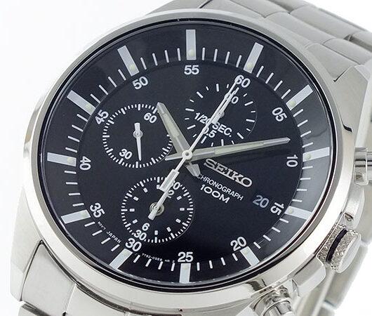 セイコー SEIKO 1/20秒 クロノグラフ 腕時計 SNDC81P1 ブラック
