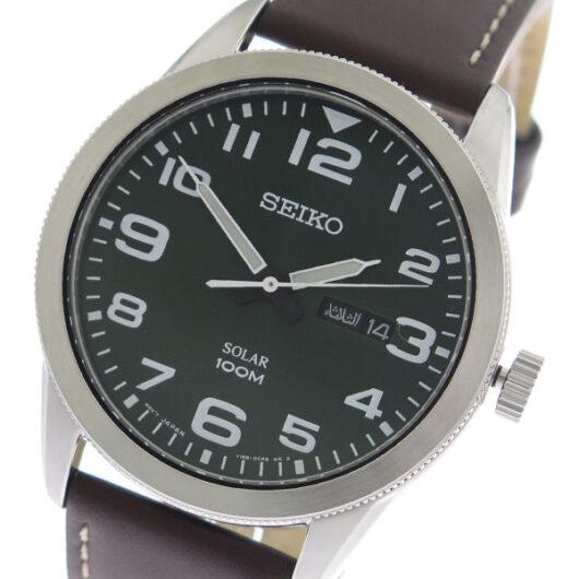 セイコー SEIKO  クオーツ メンズ 腕時計 SNE475P ネイビー/ブラウン ネイビー