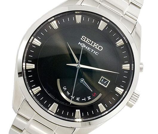 セイコー SEIKO KINETIC クオーツ メンズ 腕時計 SRN045P1 ブラック