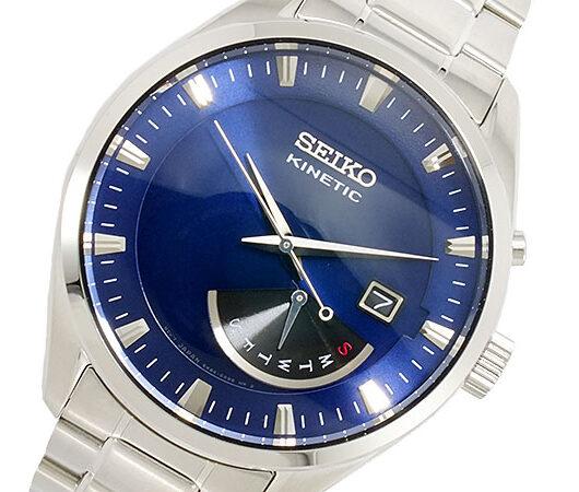 セイコー SEIKO KINETIC クオーツ メンズ 腕時計 SRN047P1 メタリックブルー