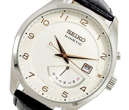 セイコー SEIKO KINETIC クオーツ メンズ 腕時計 SRN049P1 ホワイト
