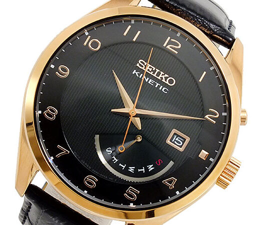 セイコー SEIKO KINETIC クオーツ メンズ 腕時計 SRN054P1 ブラック