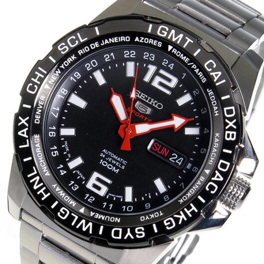 セイコー 5 スポーツ 自動巻き メンズ 腕時計 SRP685J1 ブラック ブラック