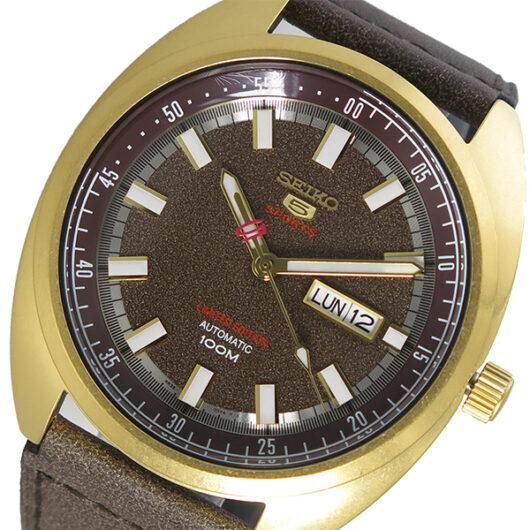 セイコー SEIKO SEIKO 5 SPORTS 自動巻き メンズ 腕時計 SRPB74K1 ブラウン ブラウン