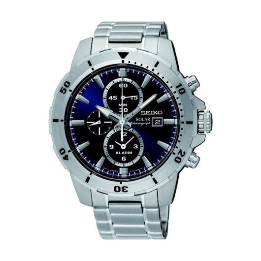 セイコー SEIKO アラームソーラー クロノ クオーツ メンズ クロノ 腕時計 SSC555P1 ネイビー ネイビー