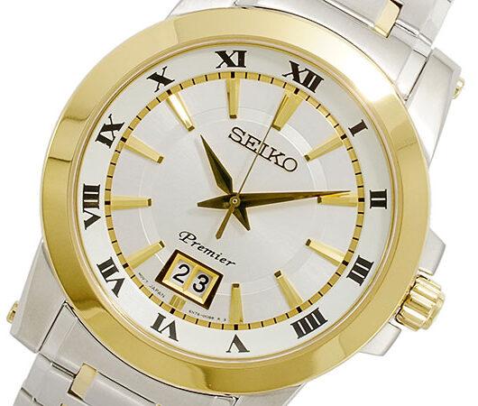 セイコー SEIKO Premier クオーツ メンズ 腕時計 SUR016P1 シルバー