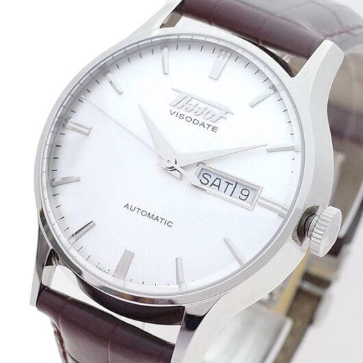 ティソ TISSOT 腕時計 メンズ T019.430.16.031.01 ヘリテージ ヴィソデイト 自動巻き ホワイト ブラウン