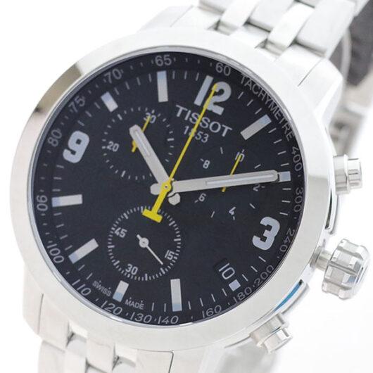 ティソ TISSOT 腕時計 メンズ T055.417.11.057.00 T-スポーツ PRC200 クォーツ ブラック シルバー