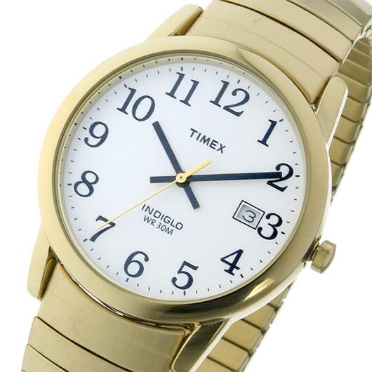 タイメックス TIMEX イージーリーダー Easy Reader クオーツ メンズ 腕時計 T2H301 ホワイト/ゴールド ホワイト