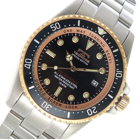 テクノス TECHNOS クオーツ メンズ 腕時計 T4467SH ブラック ブラック