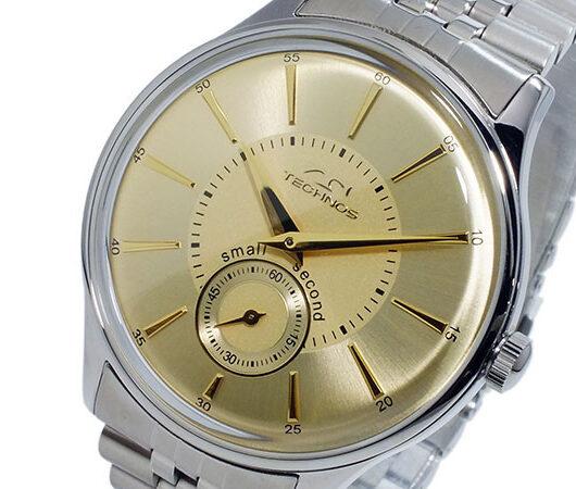 テクノス TECHNOS クオーツ メンズ 腕時計 T6335SC ゴールド ゴールド
