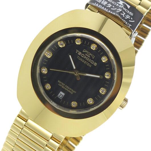 テクノス TECHNOS クオーツ メンズ 腕時計 T9475GB ブラック ブラック