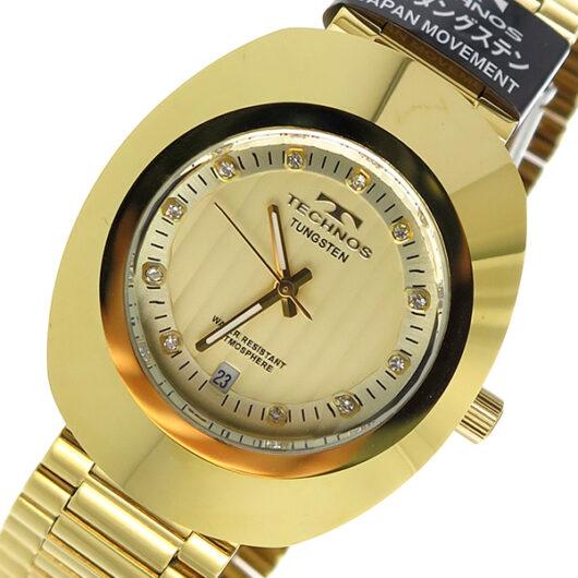 テクノス TECHNOS クオーツ メンズ 腕時計 T9475GC ゴールド ゴールド