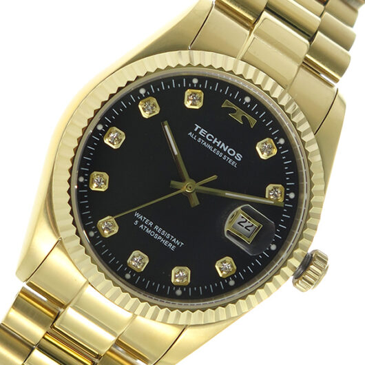 テクノス TECHNOS クオーツ メンズ 腕時計 T9604GB ブラック ブラック