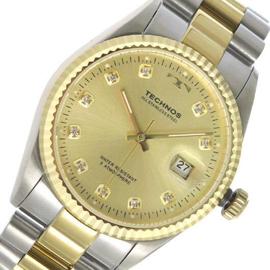 テクノス TECHNOS クオーツ メンズ 腕時計 T9604TC ゴールド ゴールド