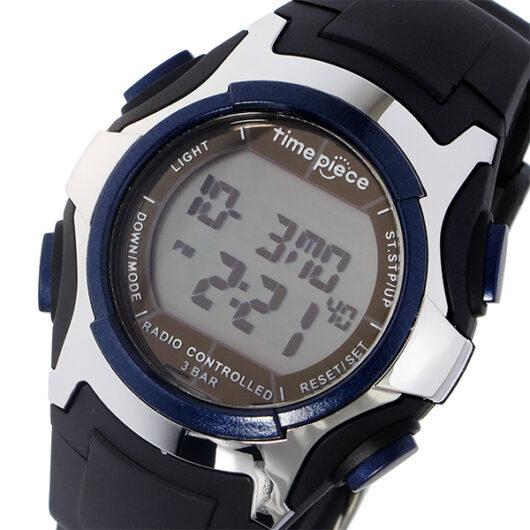 タイムピース TIME PIECE 電波 デジタル メンズ 腕時計 TPW-001BL ブラック/ブルー ブラック