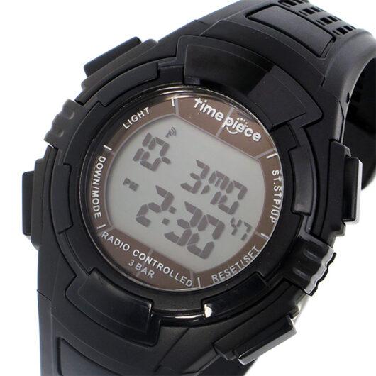 タイムピース TIME PIECE 電波 デジタル メンズ 腕時計 TPW-002BK ブラック ブラック