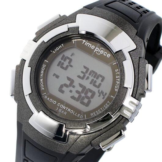 タイムピース TIME PIECE 電波 デジタル メンズ 腕時計 TPW-002GM ガンメタ ガンメタ