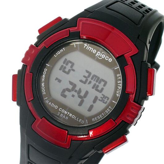 タイムピース TIME PIECE 電波時計 デジタル メンズ 腕時計 TPW-002RD ブラック/レッド ブラック