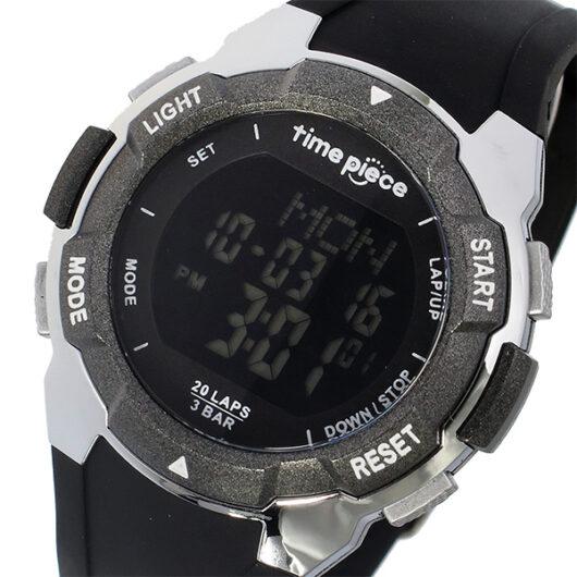 タイムピース TIME PIECE ランニングウォッチ デジタル メンズ 腕時計 TPW-004BB オールブラック ブラック