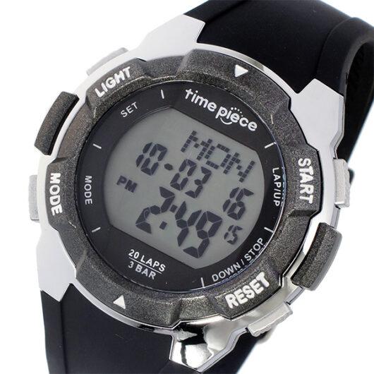 タイムピース TIME PIECE ランニングウォッチ デジタル メンズ 腕時計 TPW-004BK ブラック ブラック