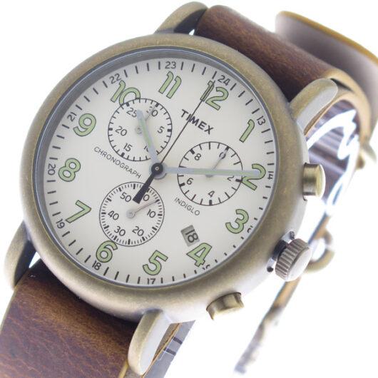 タイメックス TIMEX インディグロ INDIGLO クオーツ メンズ 腕時計 TW2P85300 オフホワイト/ブラウン ホワイト
